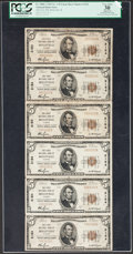 Belleville, IL - $5 1929 Ty. 1 The First NB Ch. # 2154 Uncut Sheet