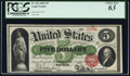 Large Size:Legal Tender Notes, Fr. 63a $5 1863 Legal Tender PCGS Choice New 63.. ...