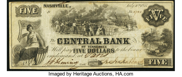 nashville tn central bank of tennessee at paris branch 5 lot