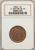 Large Cents: , 1856 1C Upright 5 MS64 Brown NGC. NGC Census: (168/109). PCGS Population: (106/39). CDN: $480 Whsle. Bid for problem-free N...