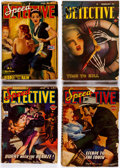 Pulps:Detective, Speed Detective Group of 11 (Culture Publications, 1943-47) Condition: GD.... (Total: 11 Items)