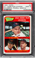 Baseball Cards:Singles (1960-1969), 1965 Topps A.L. Home Run Leaders #3 PSA Mint 9....