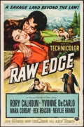 "Movie Posters:Western, Raw Edge (Universal International, 1956). One Sheet (27"" X 41"").Western.. ..."