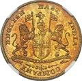 """India:British India, India: British India. Madras Presidency - East India Company gold """"Large Lettering"""" Mohur ND (1819) MS62 NGC,..."""