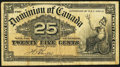 Canadian Currency, DC-15b 25¢ 1900. ...