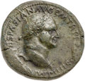Ancients:Roman Imperial, Ancients: Vespasian (AD 69-79). AE sestertius (34mm, 23.41 gm,6h).VF....