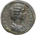 Ancients:Roman Imperial, Ancients: Julia Domna, wife of Septimius Severus (Augusta, AD193-217). AE sestertius (30mm, 25.50 gm, 6h).NGC Choice AU4/5 - 5/5....