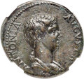 Ancients:Roman Imperial, Ancients: Antonia Minor, mother of Claudius (Augusta, AD 37 and41). AE dupondius (27mm, 12.67 gm, 6h). NGC AU ★ 4/5 - 4/5, FineSt...