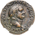 Ancients:Roman Imperial, Ancients: Vespasian (AD 69-79). AE as (27mm, 10.70 gm,6h). NGC AU 5/5 - 4/5, Fine Style, lt. smoothing....