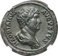 Ancients:Roman Imperial, Ancients: Hadrian (AD 117-138). AE as (27mm, 12.35 gm, 6h). NGC Choice XF ★ 5/5 - 5/5, Fine Style....