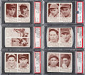 Baseball Cards:Lots, 1941 Double Play PSA NM-MT 8 To NM-MT+ 8.5 Collection (6). ...