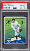 Baseball Cards:Singles (1930-1939), 1934 Goudey Ray Crowder #15 PSA NM-MT+ 8.5 - Pop One, NoneHigher....