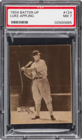 Baseball Cards:Singles (1930-1939), 1934-36 Batter-Up Luke Appling #124 PSA NM 7 - Only One Higher....