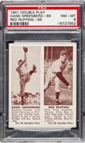 Baseball Cards:Singles (1940-1949), 1941 Double Play Greenberg/Ruffing #85/86 PSA NM-MT 8....