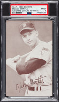 Baseball Cards:Singles (1940-1949), 1947-1966 Exhibits Mickey Mantle (Batting, Name Outlined In White) PSA Mint 9 - None Higher....