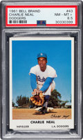 Baseball Cards:Singles (1960-1969), 1961 Bell Brand Dodgers Charlie Neal #43 PSA NM-MT+ 8.5 - Pop One,None Higher! ...