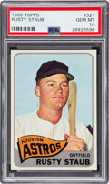Baseball Cards:Singles (1960-1969), 1965 Topps Rusty Staub #321 PSA Gem Mint 10 - Pop One! ...