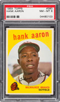 Baseball Cards:Singles (1950-1959), 1959 Topps Hank Aaron #380 PSA NM-MT 8....