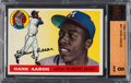 Baseball Cards:Singles (1950-1959), 1955 Topps Hank Aaron #47 BVG NM-MT 8....