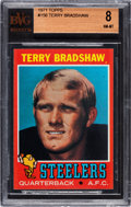 Football Cards:Singles (1970-Now), 1971 Topps Terry Bradshaw #156 BVG NM-MT 8. ...