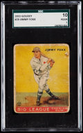 Baseball Cards:Singles (1930-1939), 1933 Goudey Jimmy Foxx #29 SGC 10 Poor 1.. ...