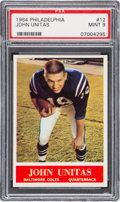 Football Cards:Singles (1960-1969), 1964 Philadelphia John Unitas #12 PSA Mint 9 - None Higher....