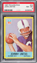 Football Cards:Singles (1960-1969), 1967 Philadelphia John Unitas #23 PSA NM-MT 8....