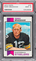 Football Cards:Singles (1970-Now), 1973 Topps Terry Bradshaw #15 PSA Mint 9. It reall...