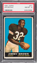 Football Cards:Singles (1960-1969), 1961 Topps Jim Brown #71 PSA NM-MT 8....
