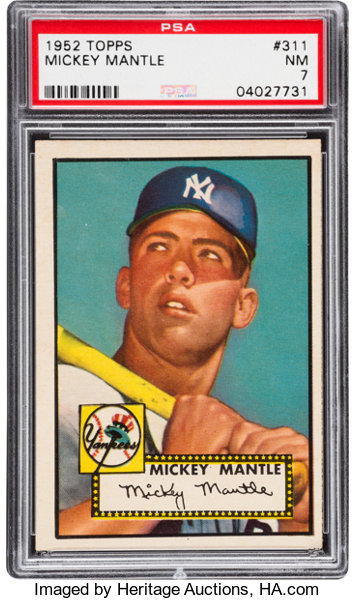 1952 Topps Mickey Mantle 311 Psa Nm 7 Baseball Cards Singles