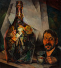 Fine Art - Painting, American, William S. Schwartz (American, 1896-1977). Spirits, 1928.Oil on canvas. 40 x 36 inches (101.6 x 91.4 cm). Signed lower ...