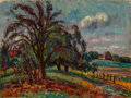 Fine Art - Painting, American, Louis Ritman (American, 1889-1963). Country Scene. Oil oncanvas. 24 x 32 inches (61.0 x 81.3 cm). Signed lower left:...