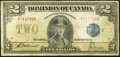 Canadian Currency, DC-26h $2 1923. ...