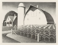 Grant Wood (American, 1891-1942) Fertility, 1939 Lithograph on paper 9 x 11-7/8 inches (22.9 x 30