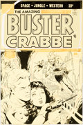 Original Comic Art:Covers, Al Williamson The Amazing Adventures of Buster Crabbe #5 Unpublished Cover Original Art (Lev Gleason, 1954)....