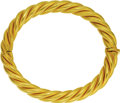 Estate Jewelry:Bracelets, Gold Bracelet, Lalaounis. The 22k yellow gold hinged banglefeatures twisted cables, completed by a concealed box clasp. M...(Total: 1 Item)