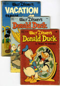 Golden Age (1938-1955):Cartoon Character, Four Color Donald Duck Related Group (Dell, 1951-52) Condition:Average GD.... (Total: 3 Comic Books)
