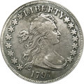 Early Half Dollars, 1797 50C --Repaired, Improperly Cleaned--NCS. VF Details...
