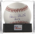 Autographs:Baseballs, Robin Roberts Single Signed Baseball, PSA Mint+ 9.5.. Pristinesweet spot signature on the ONL (Coleman) baseball from the ...