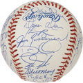 Autographs:Baseballs, 1997 Florida Marlins Team Signed Baseball. The 1997 World SeriesOfficial baseball (Selig) is adorned with thirty-on signat...