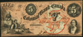 Canadian Currency, Toronto, CW- Colonial Bank of Canada $5 May 4, 1859 Ch. #130-10-04-10. ...