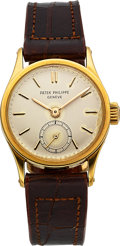 Timepieces:Wristwatch, Patek Philippe Ref. 448 Lady's Yellow Gold Calatrava. ...