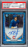 Autographs:Sports Cards, 2014 Bowman Chrome Autograph Prospects Kris Bryant Blue Wave Refractor #BCAP-KB PSA Gem Mint 10. ...