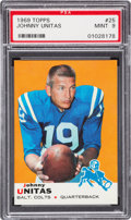 Football Cards:Singles (1960-1969), 1969 Topps Johnny Unitas #25 PSA Mint 9 - Only One Higher! ...