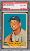 Baseball Cards:Singles (1950-1959), 1954 Red Heart Mickey Mantle PSA NM-MT 8....