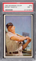 Baseball Cards:Singles (1950-1959), 1953 Bowman Color Mickey Mantle #59 PSA NM 7....