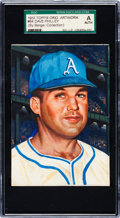 Baseball Cards:Singles (1950-1959), 1953 Topps Original Artwork for #64 Dave Philley SGC Authentic. ...