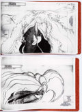 "animation art:Model Sheet, Fantasia 2000 ""The Firebird"" Sprite Animation Studio Model Sheet Bound Group of 38 (Walt Disney, 1999)...."