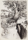 Other, Garth Williams (American, 1912-1996). Miss Bianca: A Fantasy, (five works),1962. Pen and ink on paper. 14.75 x 9.75 in. ... (Total: 5 Items)