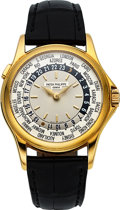 Timepieces:Wristwatch, Patek Philippe, Ref. 5110J-001, 18k Gold World Time, circa 2003 . ...